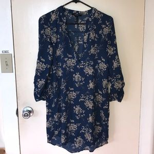 Forever 21 flower shirt dress